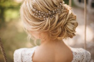 bridal hair treatment for wedding day