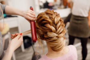 girl with braids at salon