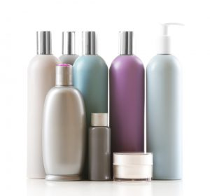 collection of hair product bottles